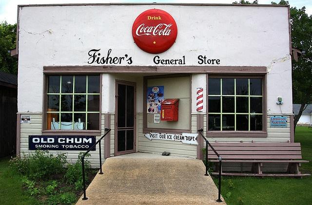 Fisher's General Store near Portage la Prairie, Manitoba. Photo by Ken Yuel, via Flickr
