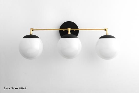 Globe Light Modern Light Fixture Opal Globe Bathroom Lighting Neckless Globe Vanity Light Bathroom Wall Light Model No 9319 Modern Light Fixtures Globe Lights Modern Lighting