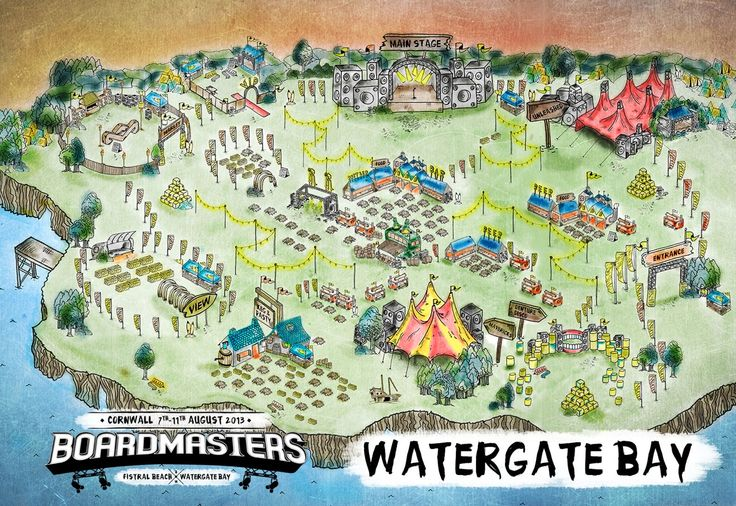 Boardmasters music arena at Watergate Bay. This weekend!