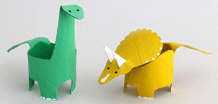 4 Manualidades de dinosaurios para hacer con niños