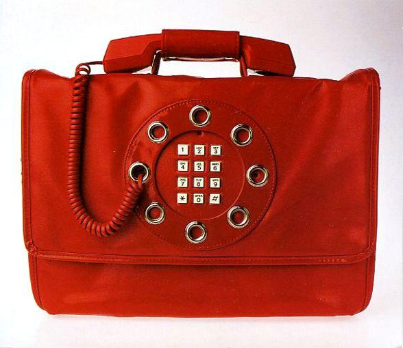 1970s - Dallas Handbags Novelty telephone-purse