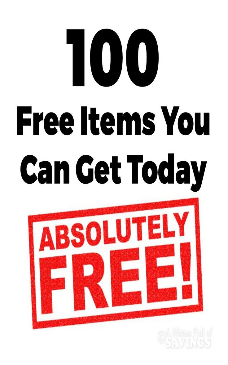 Oh, the things you can score for FREE! Check out this list of 100 FREE Items You Can Get Today!