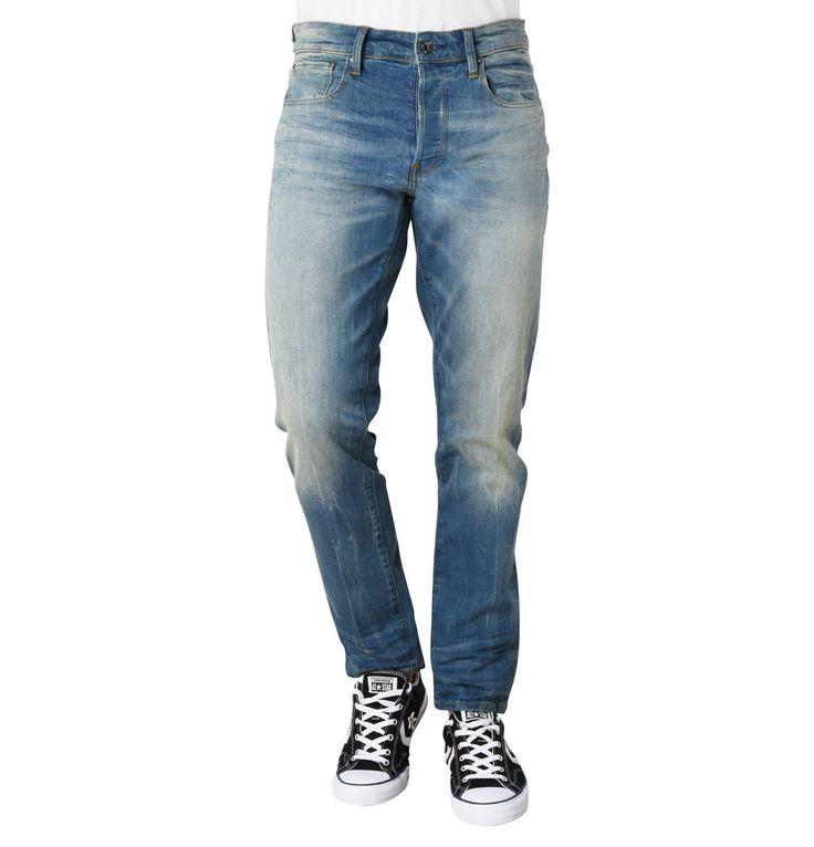 """Jeans """"3301 Straight"""", Tapered Fit, Waschung, Marken-Stickerei"""