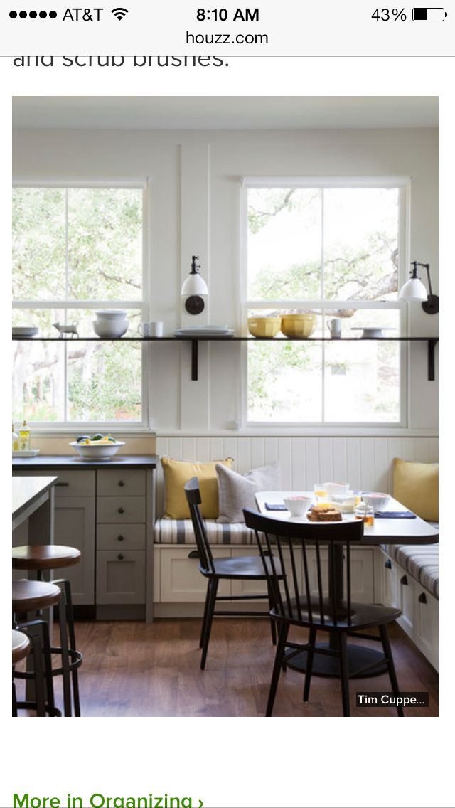 storage in breakfast nook bench kitchen pinterest