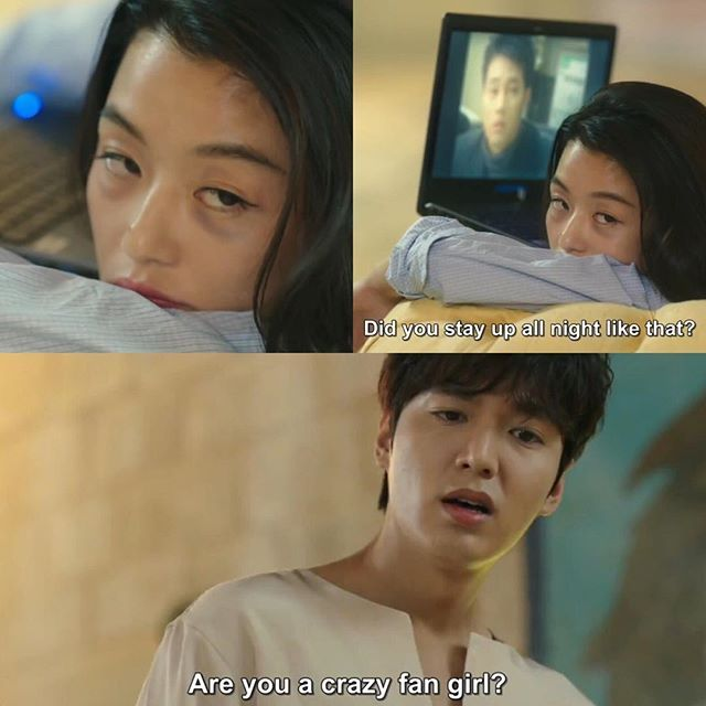 Can you blame her though? It's So Ji Sub on the screen!
