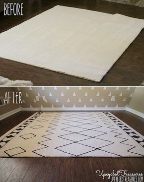 west-elm-knockoff-diy-sharpie-rug-before-and-after-photo-upcycledtreasures2