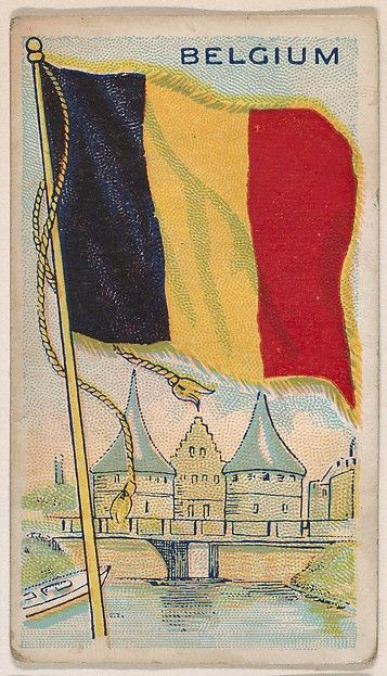 Belgium, bakery card from the Flags series (D34), issued by the Ward-Mackey Company