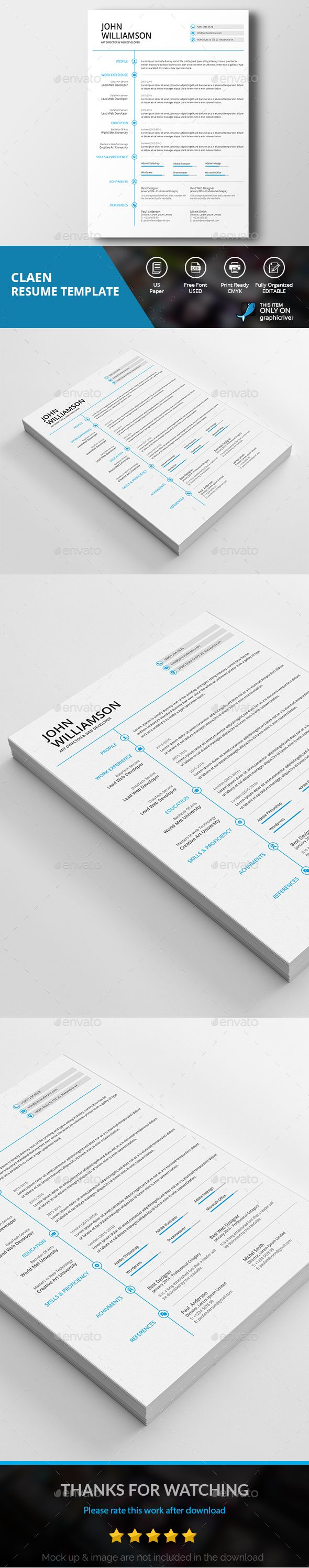 download job resume format%0A Resume CV  Bailey by bilmaw creative on Creative Market   RESUME    Pinterest   Resume cv