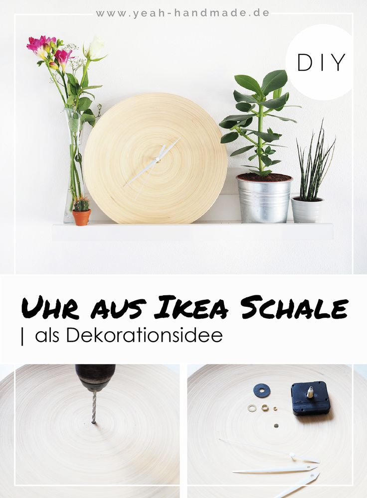 Diy Uhr Aus Der Ikea Bambus Schale Hultet Diy Geschenke