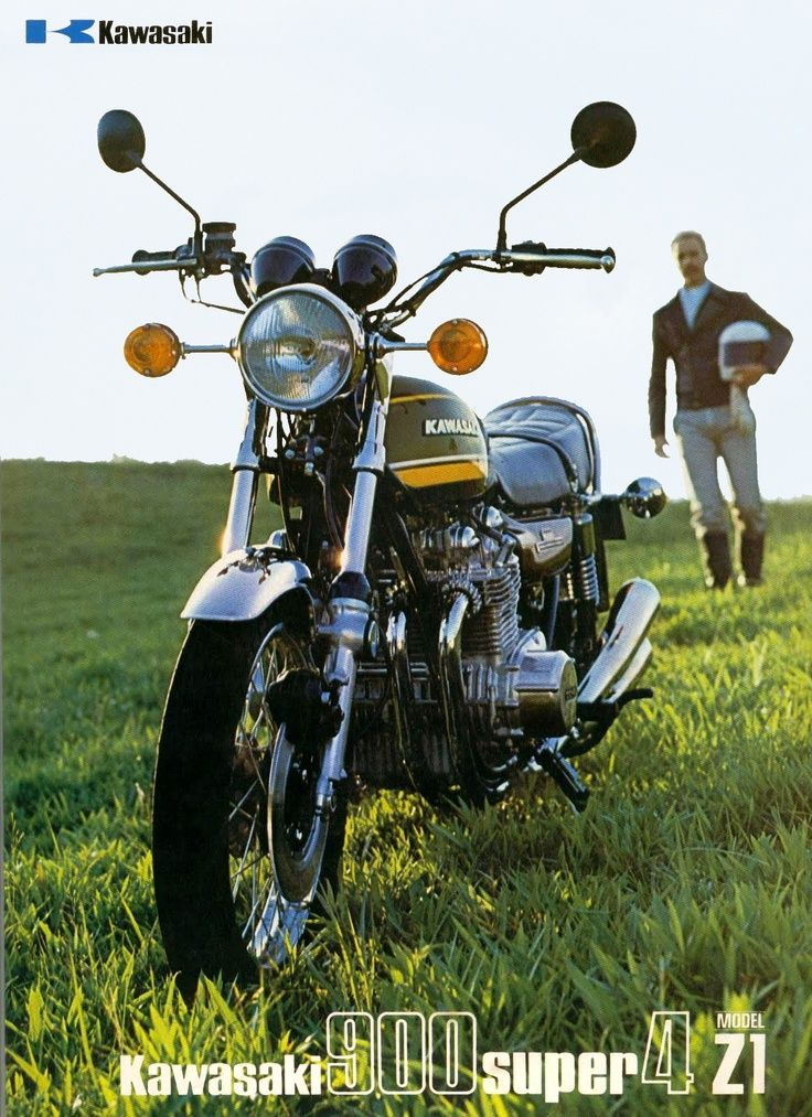 Kawasaki Z1 900cc Super 4. One of the most collectible Kawasaki motorcycles.