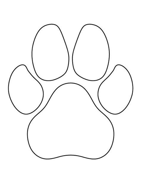 Dog Paw Print Pattern Use The Printable Outline For Crafts Creating Stencils Scrapbooking