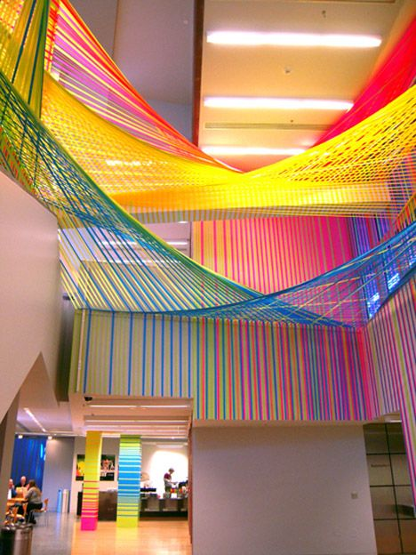 art installation made using tape...TAPE...by Megan Geckler