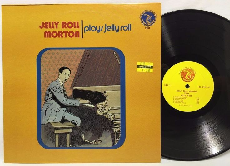 Jelly Roll Morton – Plays Jelly Roll/Olympic Records– 7131 LP #Vinyl Record