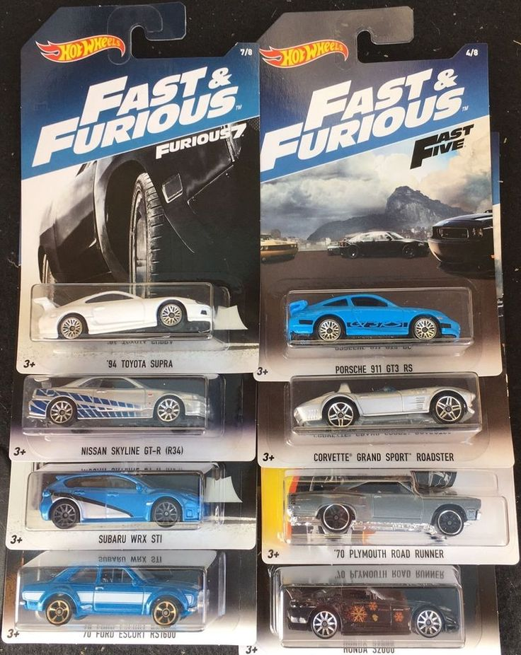 Hot Wheels Fast & Furious Set 5 2017  | eBay