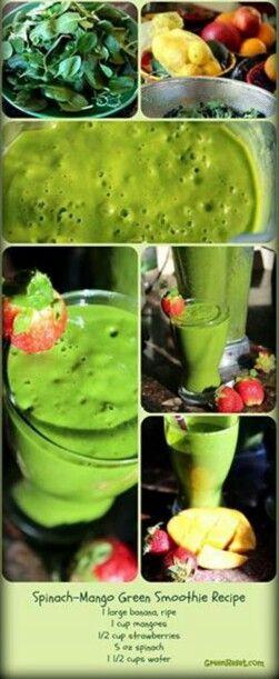 Spinach, mango smoothie recipes