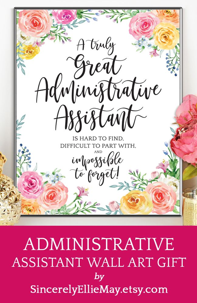 Administrative Assistant Gifts Great As Administrator Thank You