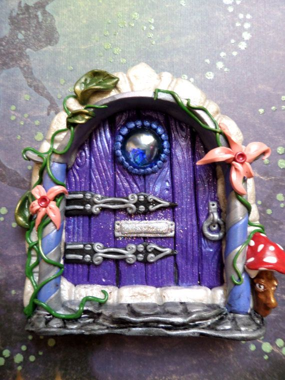 Mystical and Magical Fairy Door with Porch made by AurorasLocket