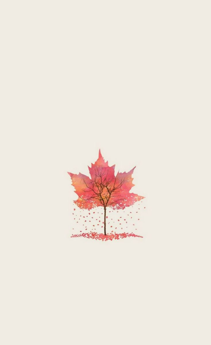 Autumn Tree Leaf Shape Illustration #iPhone #4s #wallpaper