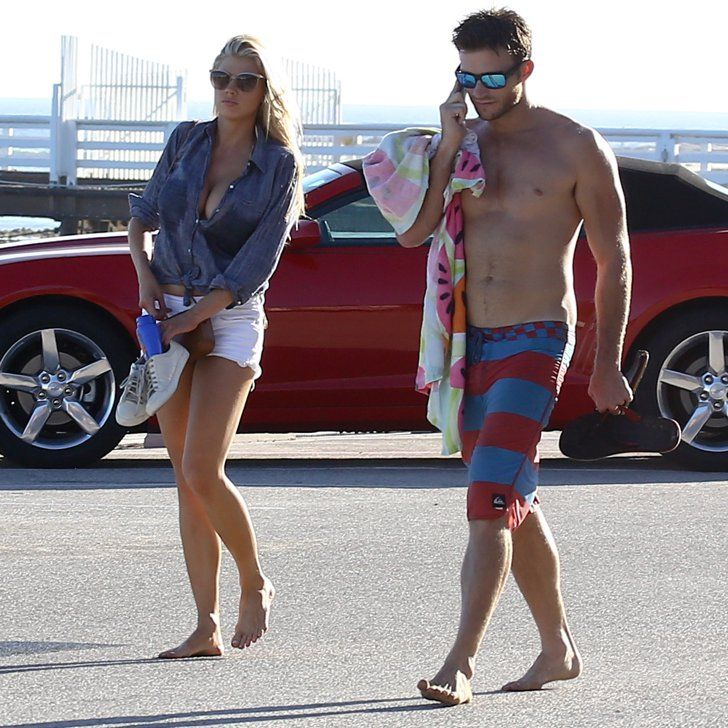 Scott Eastwood Has a Hot Shirtless Beach Date With Model Charlotte McKinney