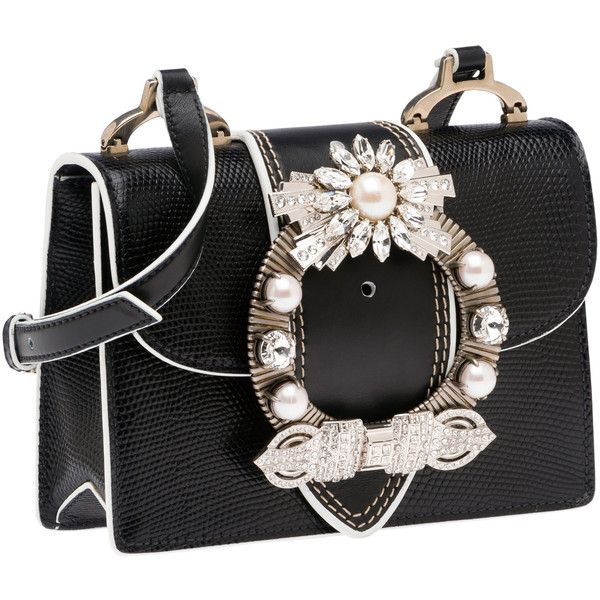 Image result for Miu Miu Madras Leather Dahlia Bag with silver stone