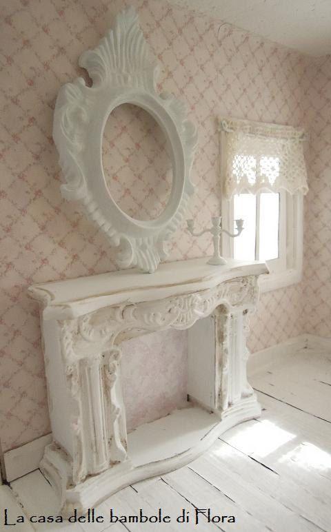French fireplace - 1/12 Dollhouse miniature via Etsy