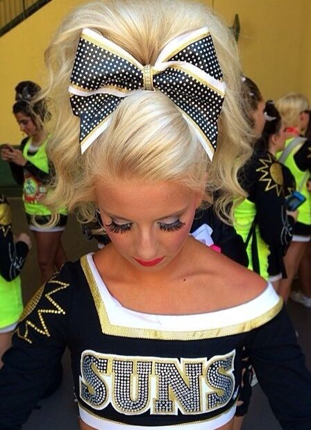 Her cheer hair is amazing / World Cup Suns / saved from @beccaclarkkk