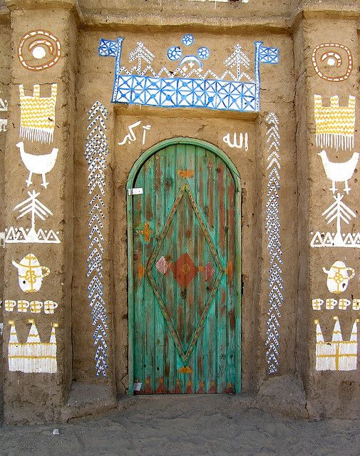 Nubian Doorway. Egypt