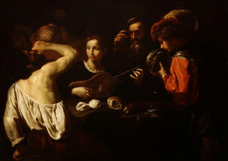 Pietro Paolini - Allegory of the Five Senses [c.1630] | Arash Noorazar Virtual Art Gallery  #17th #Classic #Painting #Pietro #Paolini