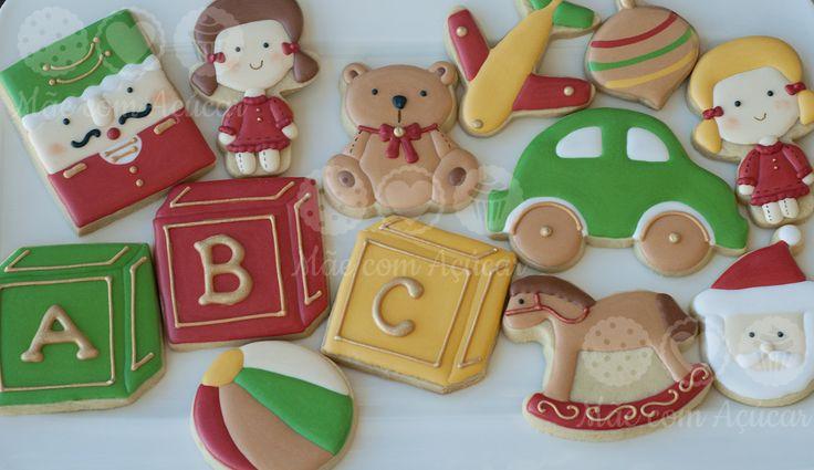 Mãe com Açúcar: old toys christmas cookies