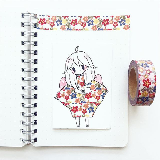 #washitape flowers 24 (gold foil washi tape from aliexpress!!! so pretty...) I'm on my way to the airport!! Going to Edmonton for a week to visit family ^o^~