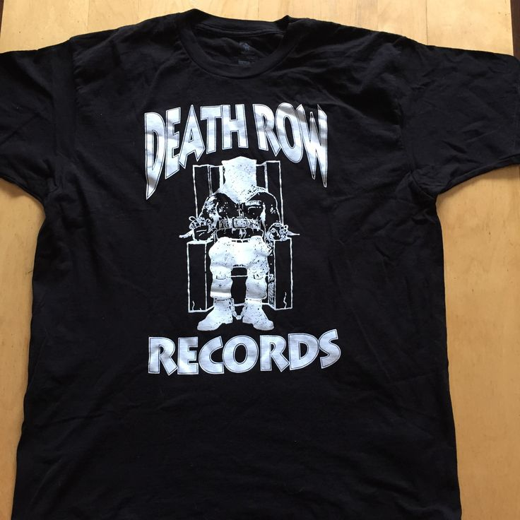 Death Row Shirt size (XL) Hip Hop Record Label Suge Knight Eazy - E - Biggie -Tupac Gently Pre Loved Shirt No refunds or exchanges on clothing That doesn't fit  #eazye #gangsta #gangstarap #notoriousbig #biggie #bigpoppa #tupac #alleyezonme #toliveanddieinla #nwa #ericlynnwright #ruthlessrecords #undergroundhiphop #eazyduzit #thadoggpound #80s #80skid #californialove #westcoastrap #eastcoastrap #deathrowrecords