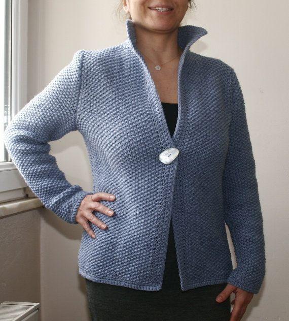 Hand knitted woolen sweater for women's/Hand by SEVILSBAZAAR, $160.00