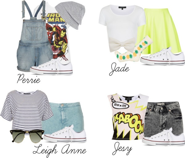 """""""Little Mix inspired outfits with white converse"""" by littlemix-style ❤ liked on Polyvore"""