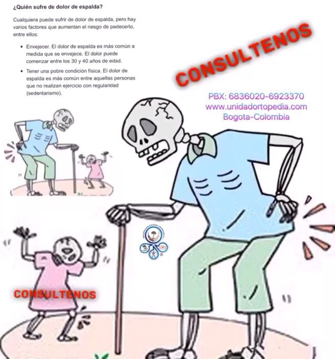 Dolor de espalda baja, lumbociática, lumbago, lumbalgia mecánica. Tratamientos efectivos www.unidadortopedia.com PBX: 6923370