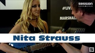 Nita Strauss: Interview at her clinic at the Abbey Road Institute in Frankfurt   We interviewed Nita Strauss guitarist of Alice Cooper at her clinic at the Abbey Road Institute in Frankfurt. Marshall code buy now at session: https: //www.session.de/index.php foll ...? Ibanez S-Series: https: //www.session.de/index.php stok ...? Interview mit Nita Strauss (Alice Cooper) im Abbey Road Institute Frankfurt von session Nita Strauss