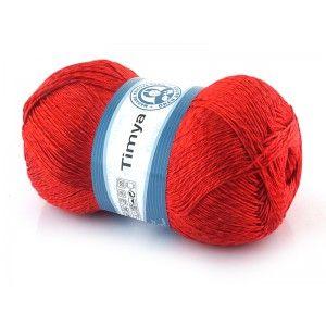 Włóczka TIMYA Madame Tricote Paris   Bardzo cieniutka mieszanka bawełny i poliestru. Nitka posiada delikatny połyski i jest bardzo mocna. Doskonale nadaje się na letnie wyroby takie jak bikini, topy i nie tylko ponieważ można z niej zrobić fantastyczne serwetki