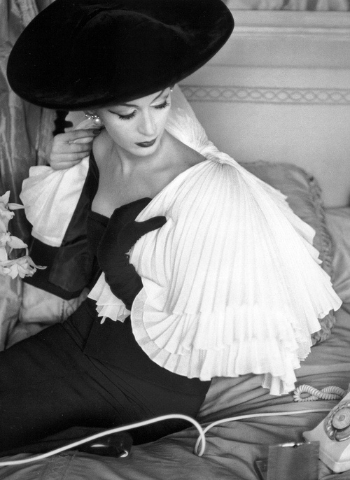 Capelet and dress by Jacques Fath, 1956