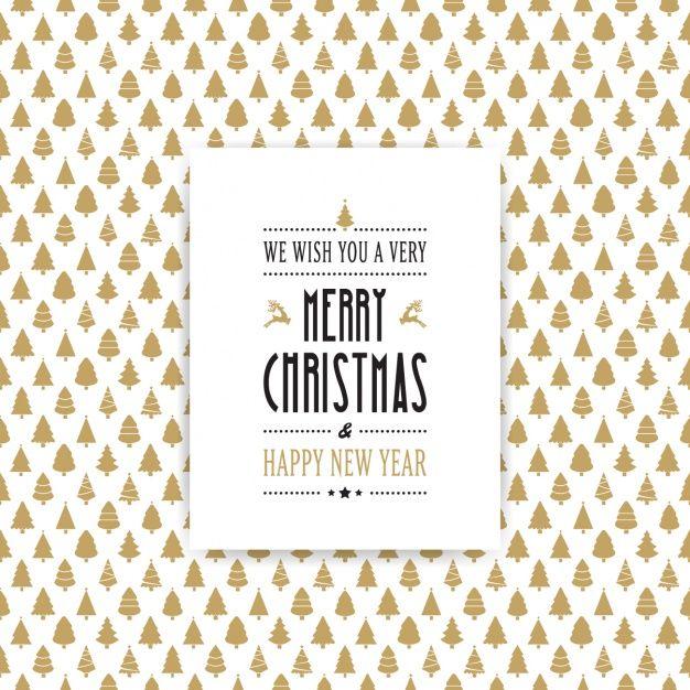 Фантастический фон из золотых рождественские елки Бесплатные векторы