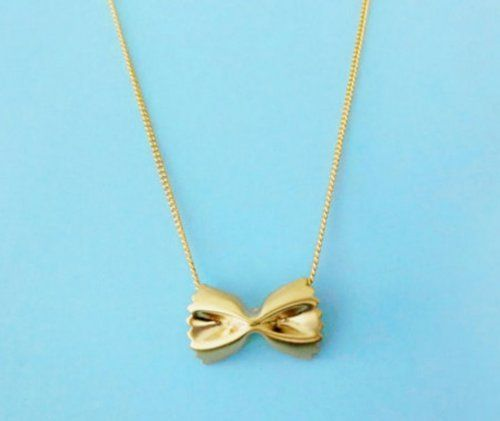 Christmas Gifts for her! Farfalle Pasta necklace!