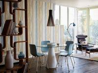 Scion Zing behang verticale lijnen blauw bruin