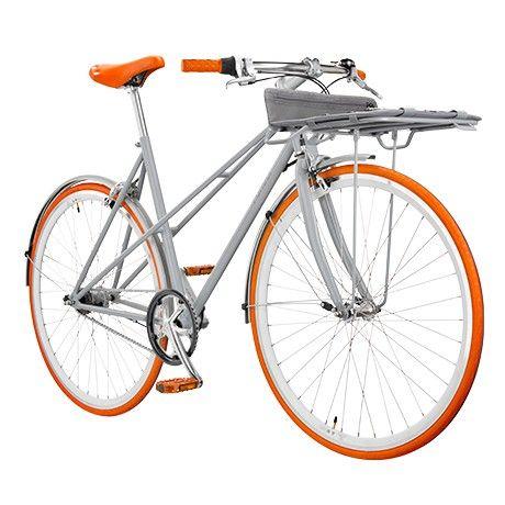 Orange Womens Bike with Basket by Porteur | MONOQI