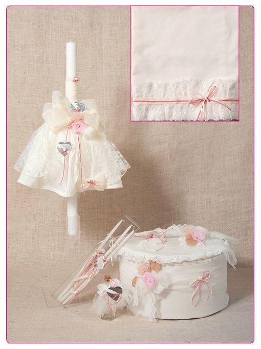 Greek Wedding Shop - Hearts in Bloom Girl's Christening Set, Request Quote (http://www.greekweddingshop.com/hearts-in-bloom-girls-christening-set/)