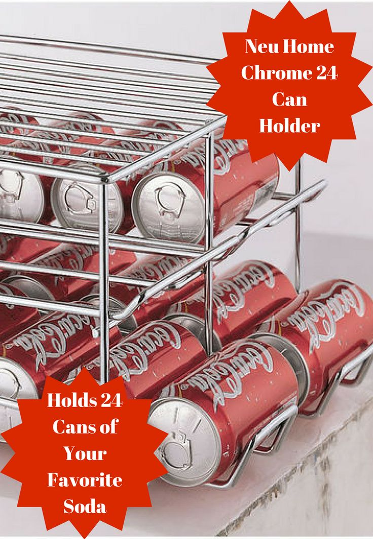 This Neu Home Chrome 24 Can Holder will hold up to 24 cans of your favorite soda so you can store it on your counter top or even in the refrigerator #cleaning #organizing #chrome #can #holder #afflink