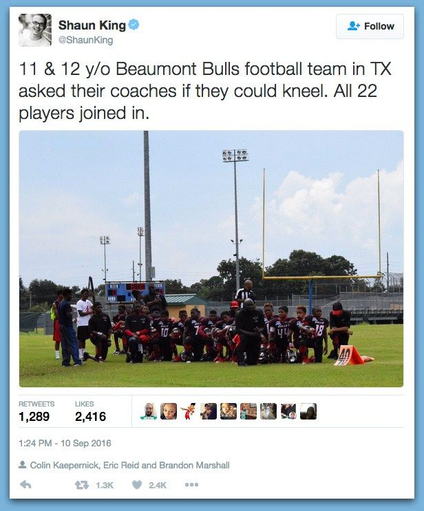 Team Of Kid Football Players Refuse To Stand During National Anthem - BB4SP
