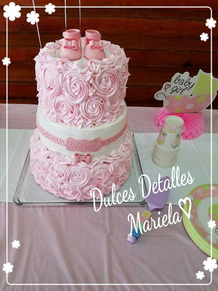 M s de 25 ideas incre bles sobre pasteles de baby shower - Decoracion baby shower nina sencillo ...