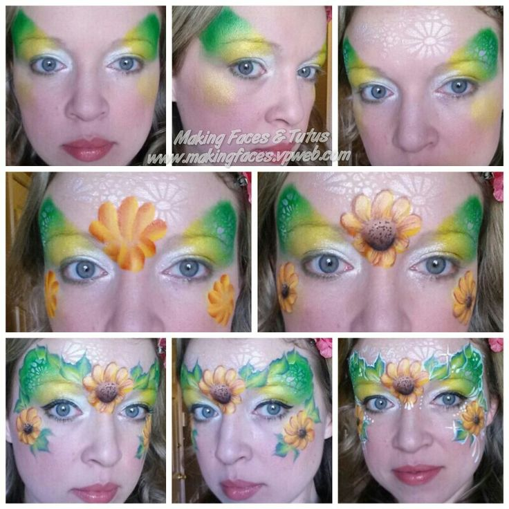 Garden Fairy face painting tutorial by Making Faces & Tutus www.makingfaces.vpweb.com
