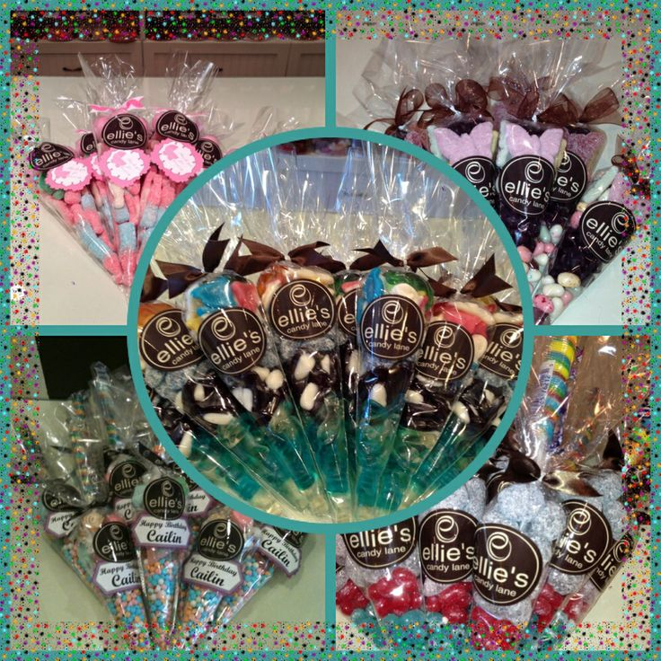 These candy cones can also be made for birthdays and other events. The possibilities are endless! A variety of candies can be used.