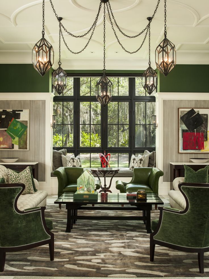 40 Stylish Living Rooms Perfect For Holiday Entertaining Room GreenEclectic