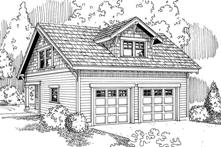 Garage Plan 20-007 - Front Elevation