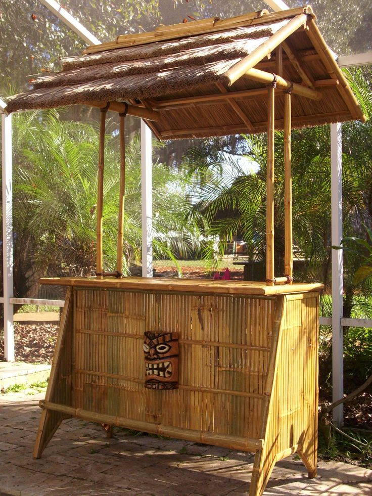 17 best images about tiki bar on pinterest stop signs for Homemade tiki bar pics